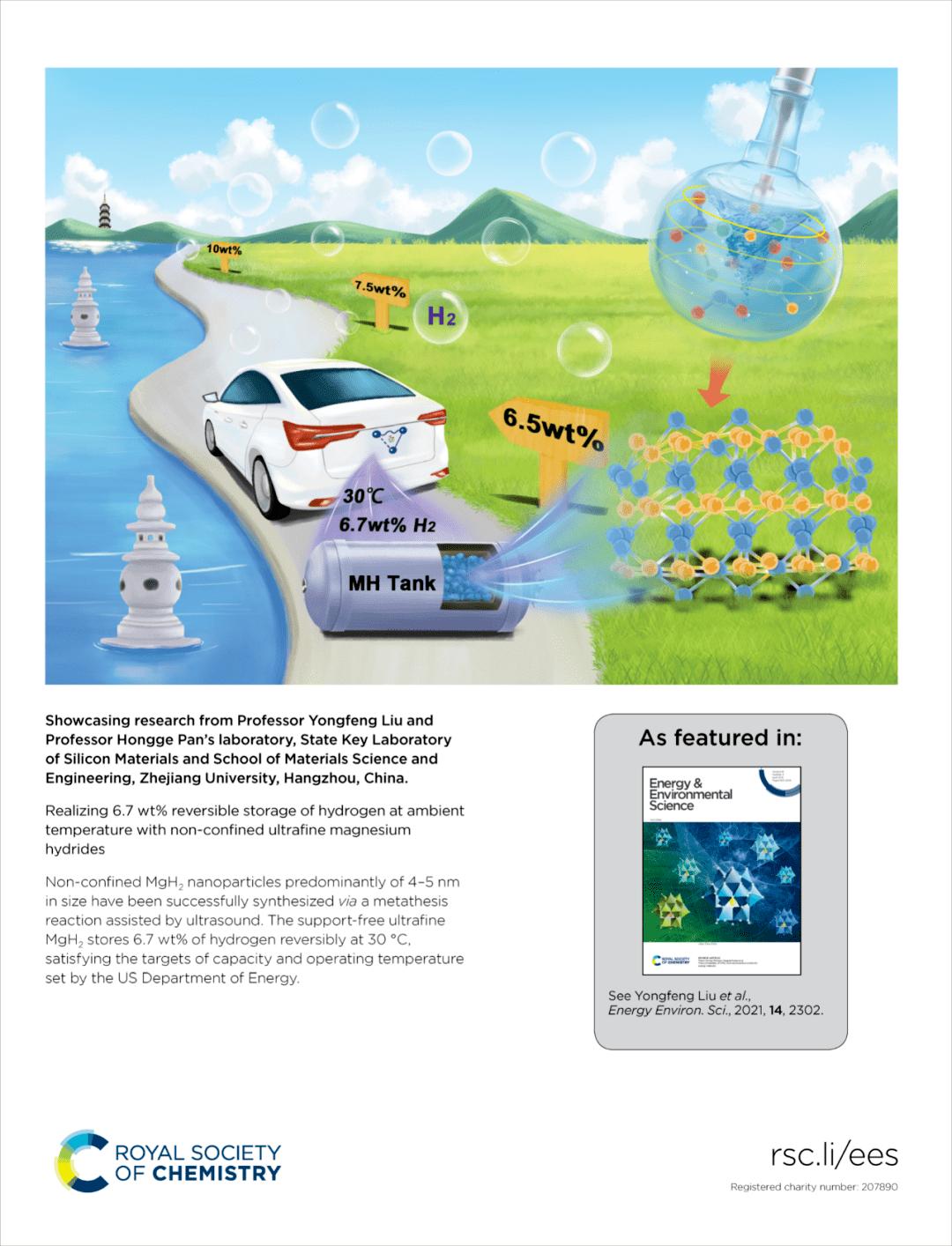 浙江大学刘永锋教授:超声驱动的无负载(非限域)超细纳米氢化镁合成新方法